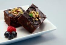 brownies med chokoladeglasur