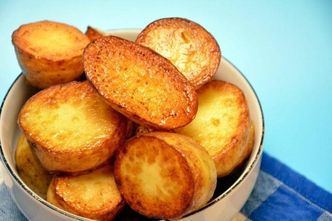 råstegte kartofler