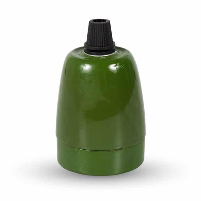 porecelænslampe i grøn fra byhome