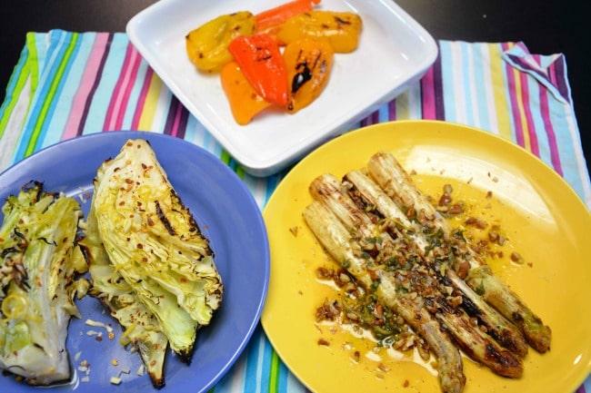 Grillede grøntsager efter
