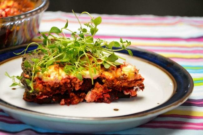 Vegetarisk rødbedetærte