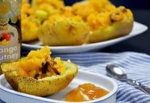 Bagte kartofler med vegansk fyld