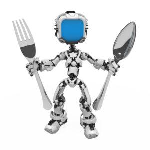 Robot med bestik